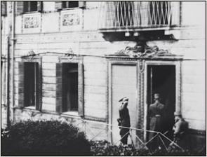 L'arrivo dei plenipotenziari austriaci a villa Giusti di Padova per trattare l'armistizio, il 31 ottobre 1918