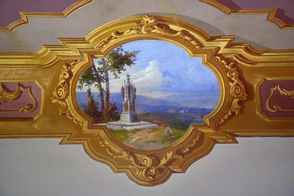 Villa Contarini Giovanelli Venier di Vo (Pd): particolare del soffitto
